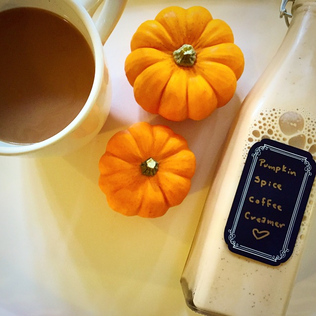 sweetnsimple - pumpkinspice coffee creamer