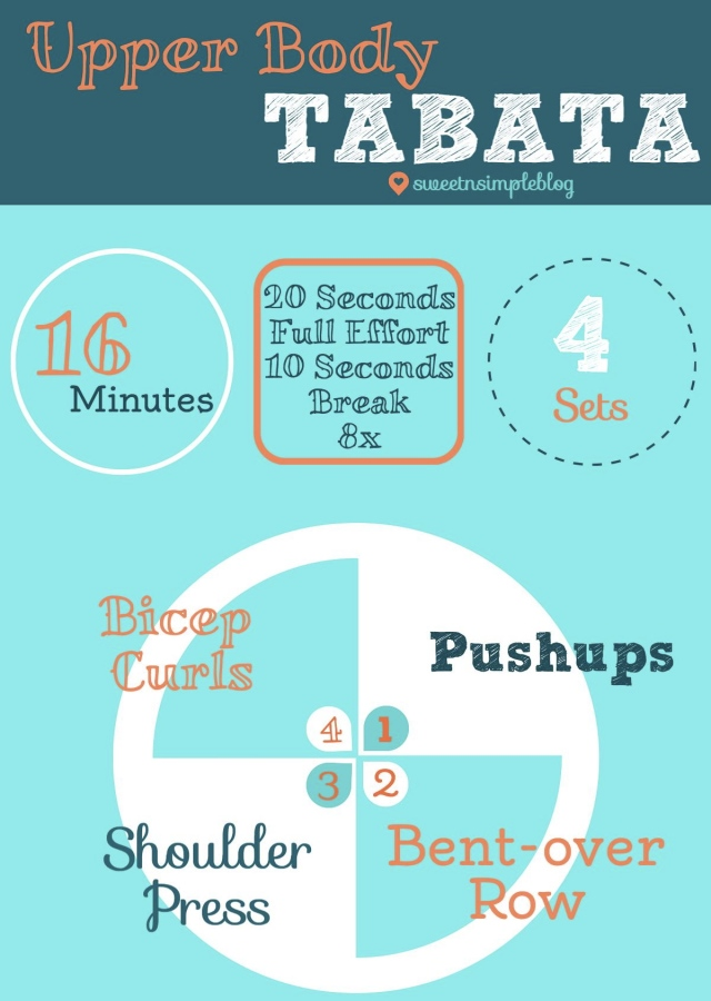Upper Body Tabata Workout- Sweetnsimpleblog