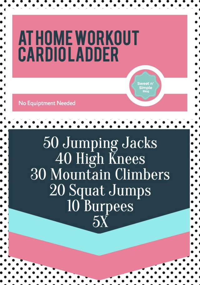 Cardio Ladder - At Home workout